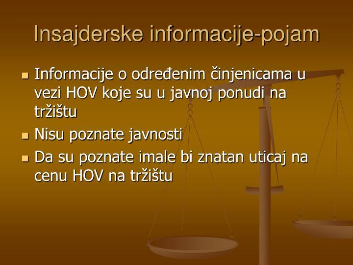 Insajderske informacije-pojam