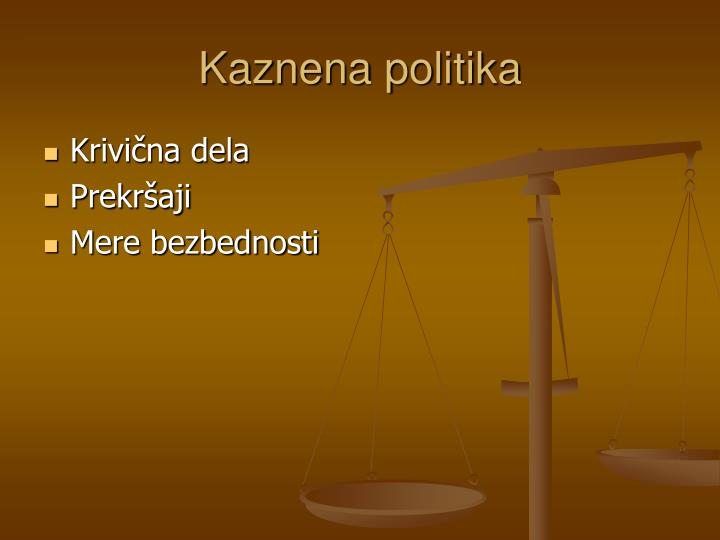 Kaznena politika