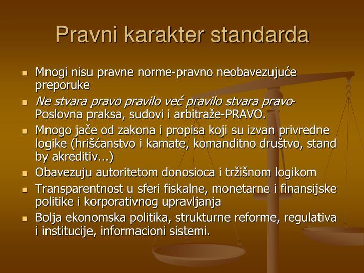 Pravni karakter standarda