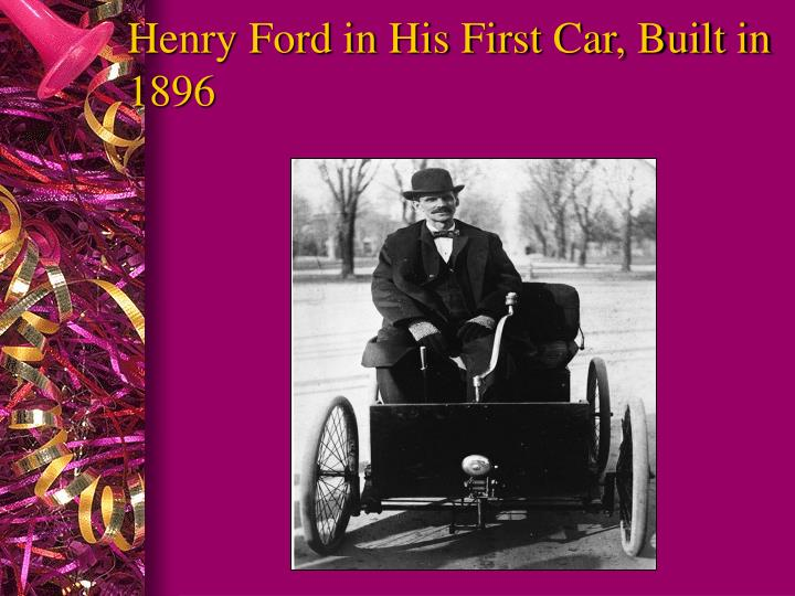 Henry Ford in His First Car, Built in 1896