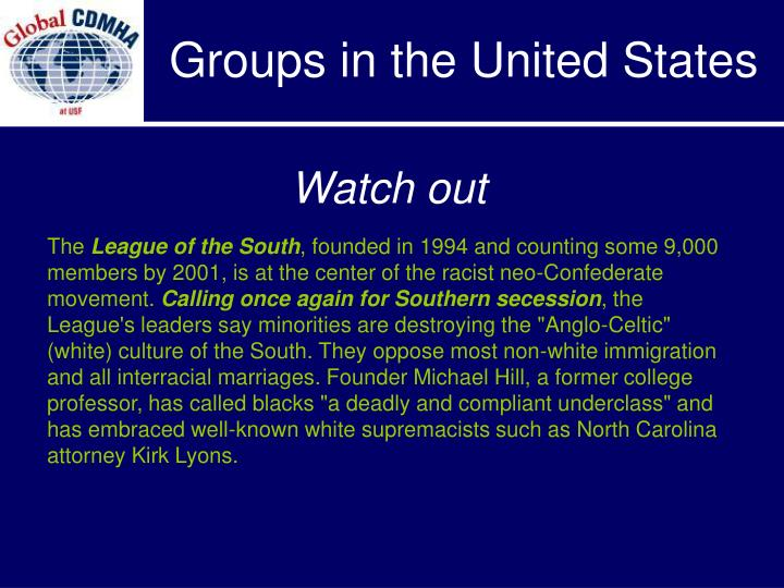 Groups in the United States