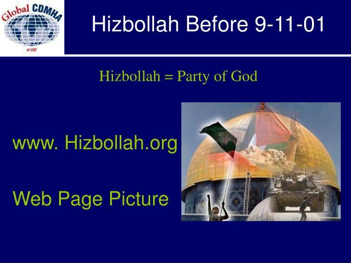 Hizbollah Before 9-11-01