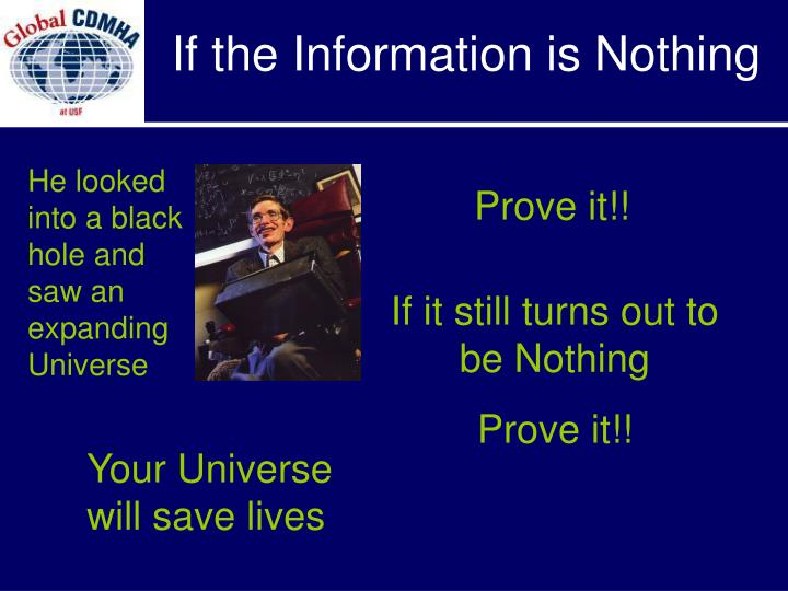 If the Information is Nothing