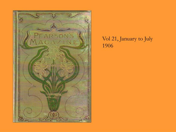 Vol 21, January to July 1906