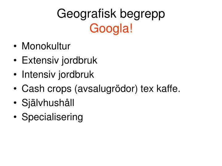 Geografisk begrepp