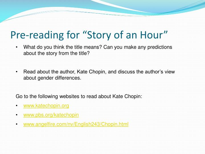 a description of the story of an hour by kate chopin
