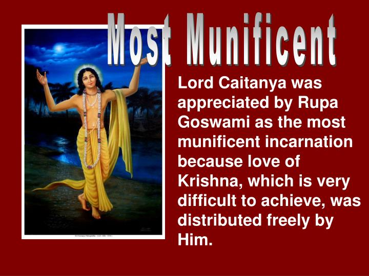 Most Munificent
