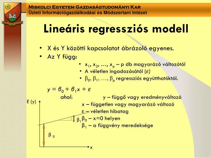 Lineáris regressziós modell