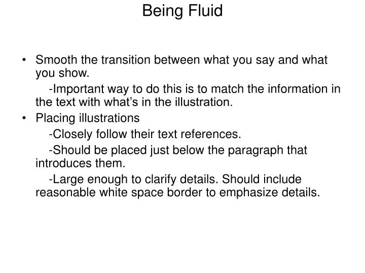 Being Fluid