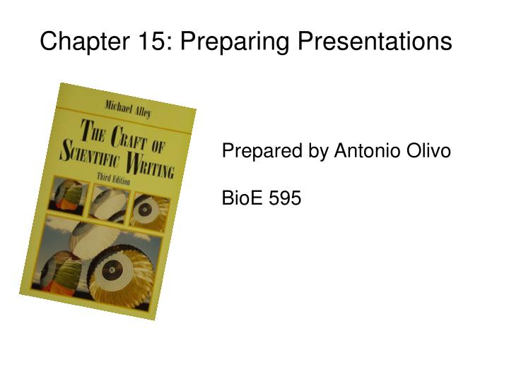 Chapter 15: Preparing Presentations