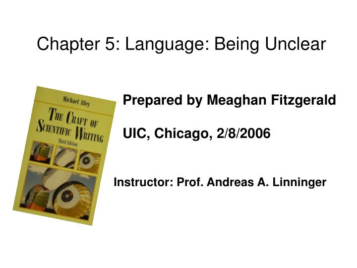 Chapter 5: Language: Being Unclear