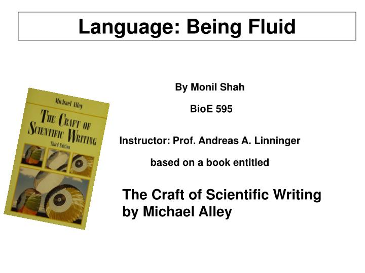 Language: Being Fluid