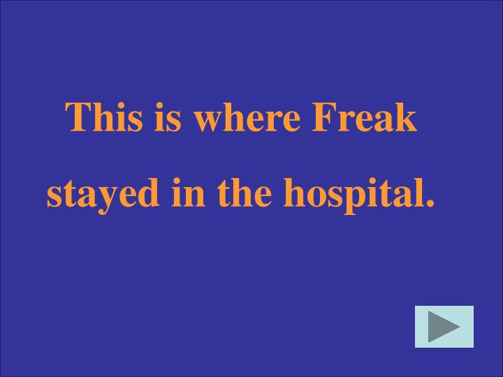 This is where Freak