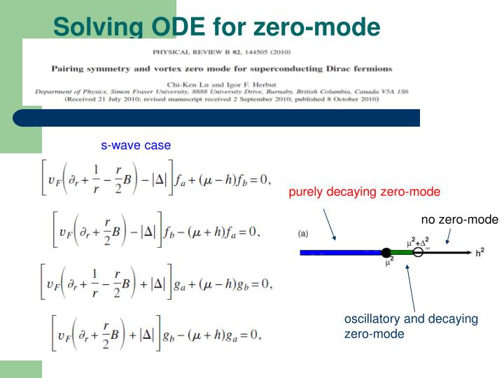 Solving ODE for zero-mode