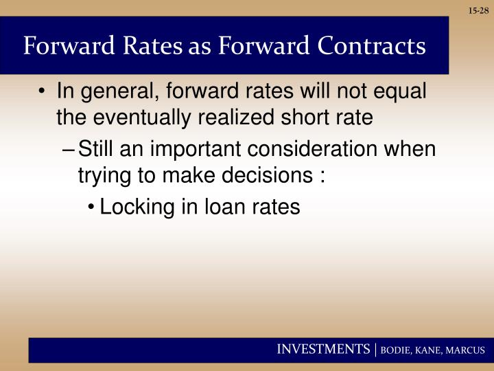 Forward Rates as Forward Contracts