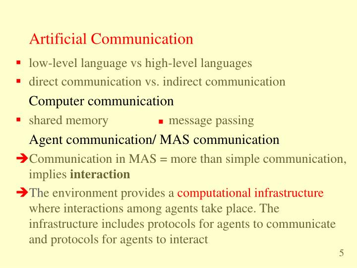 Artificial Communication