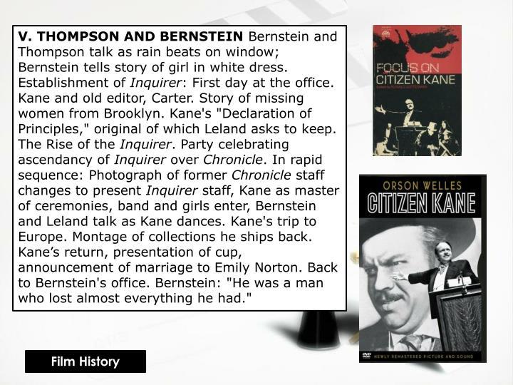 V. THOMPSON AND BERNSTEIN