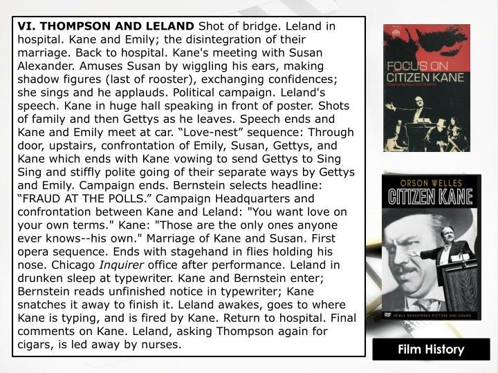 VI. THOMPSON AND LELAND
