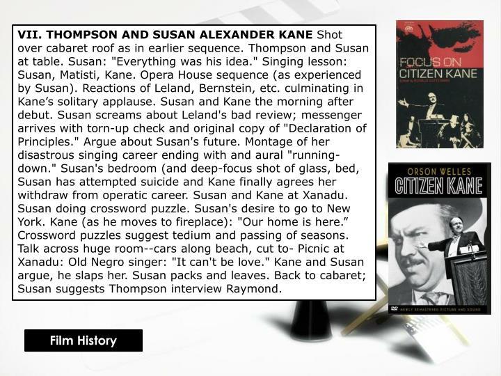 VII. THOMPSON AND SUSAN ALEXANDER KANE