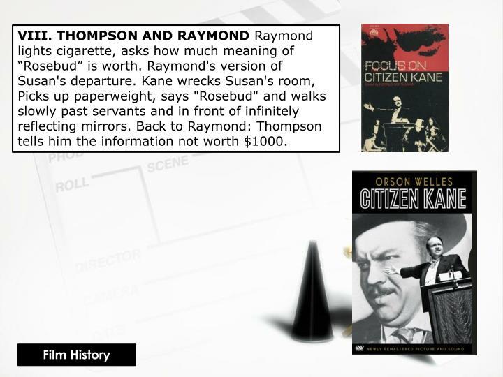 VIII. THOMPSON AND RAYMOND