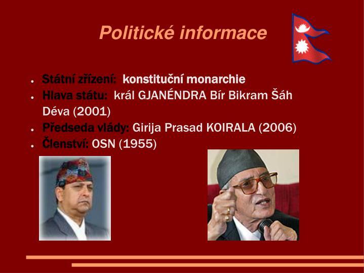 Politické informace