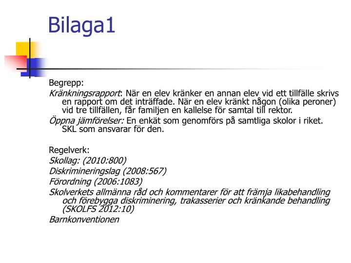 Bilaga1
