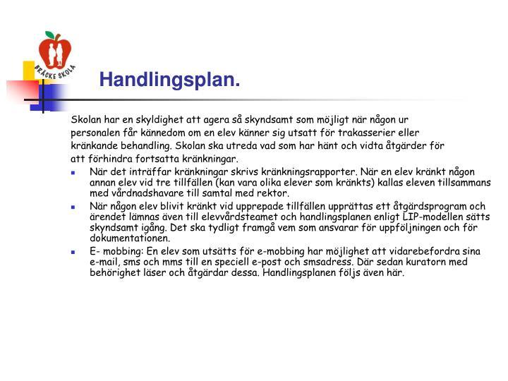 Handlingsplan.