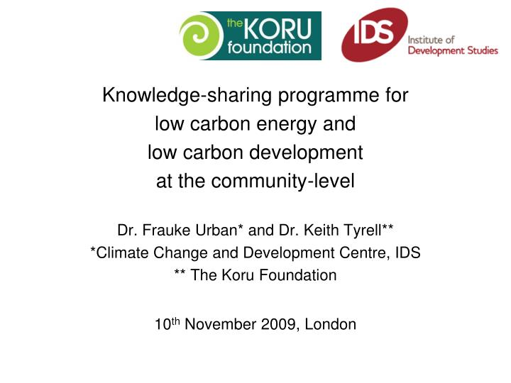 Knowledge-sharing programme for