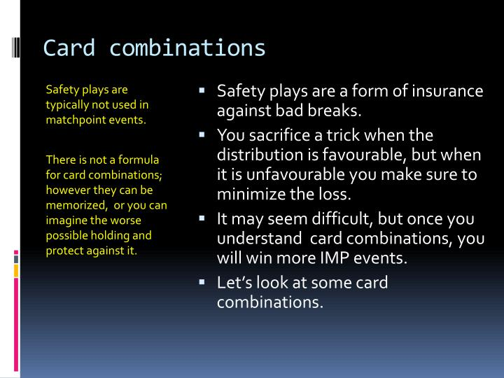 Card combinations