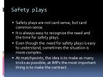 safety plays1