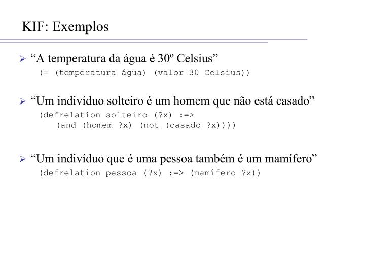 KIF: Exemplos