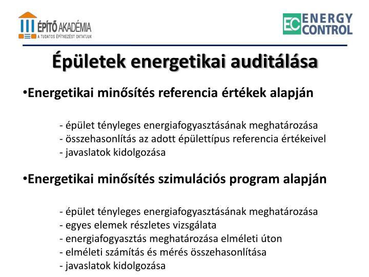 Épületek energetikai auditálása