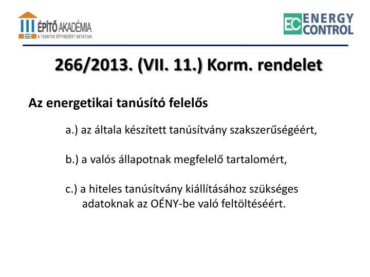 266/2013. (VII. 11.)