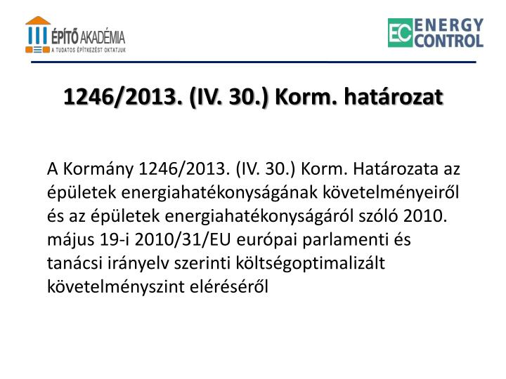 1246/2013. (IV. 30.)