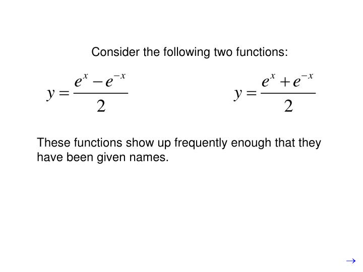 Consider the following two functions: