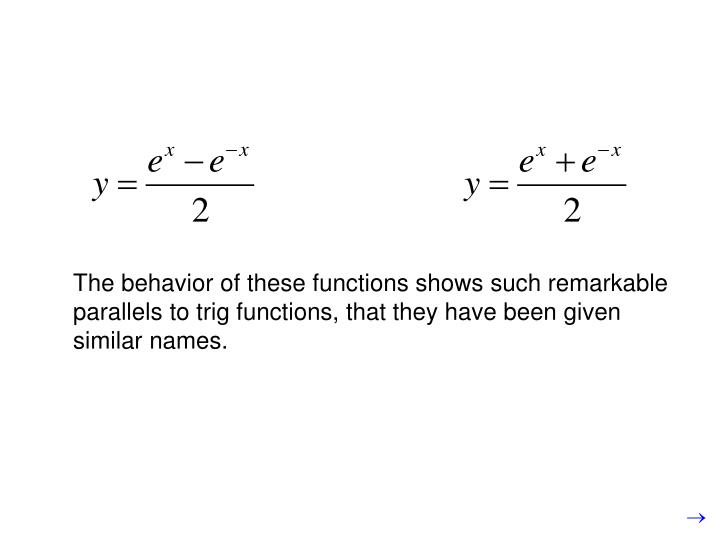 The behavior of these functions shows such remarkable