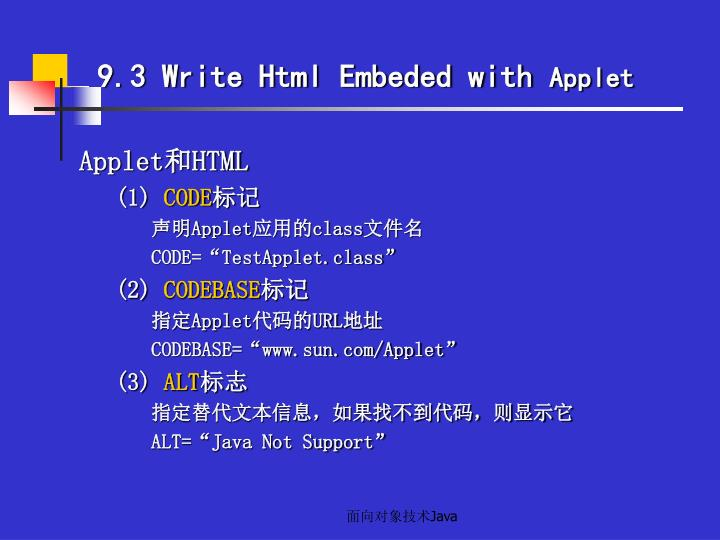 9.3 Write Html Embeded with