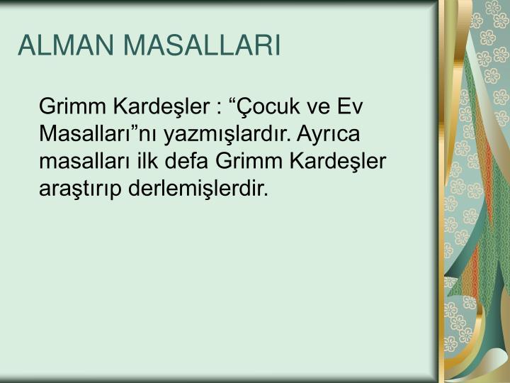 ALMAN MASALLARI