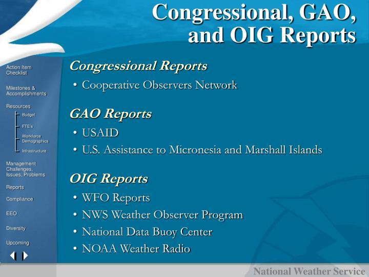 Congressional, GAO,