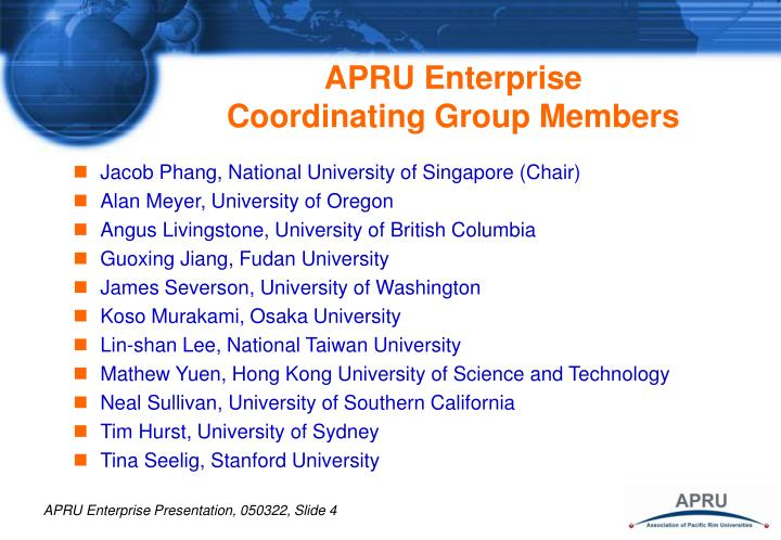 APRU Enterprise