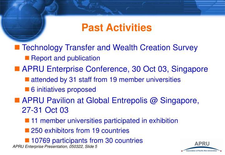 Past Activities