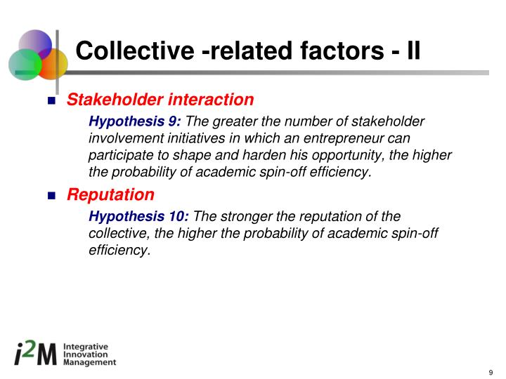 Collective -related factors - II