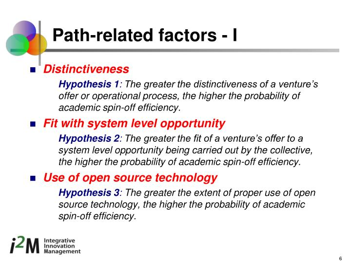 Path-related factors - I
