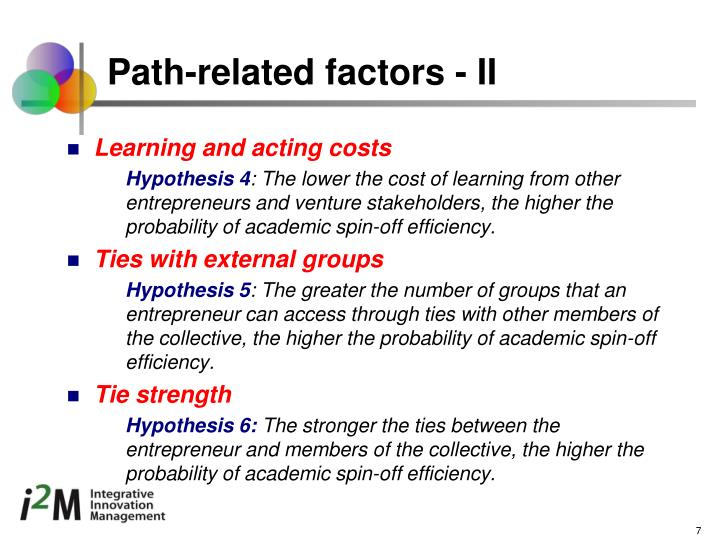 Path-related factors - II