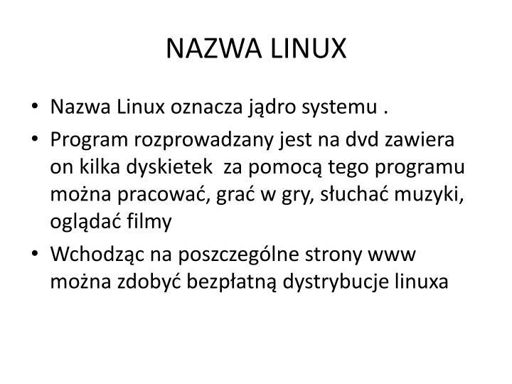 NAZWA LINUX
