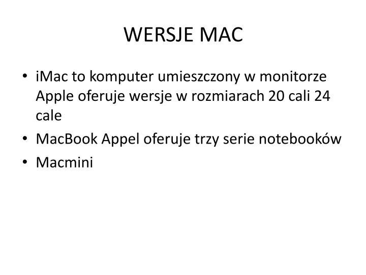 WERSJE MAC