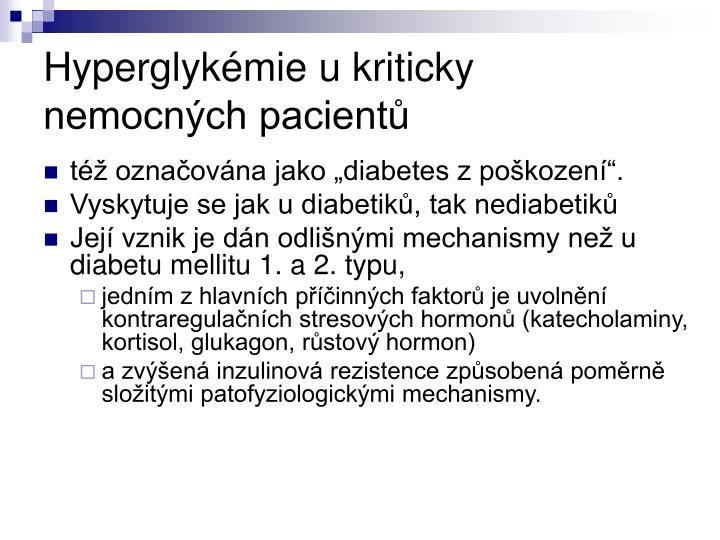 Hyperglykémie u kriticky nemocných pacientů