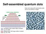self assembled quantum dots
