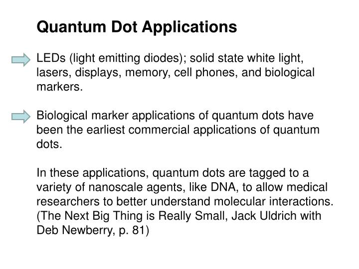 Quantum Dot Applications