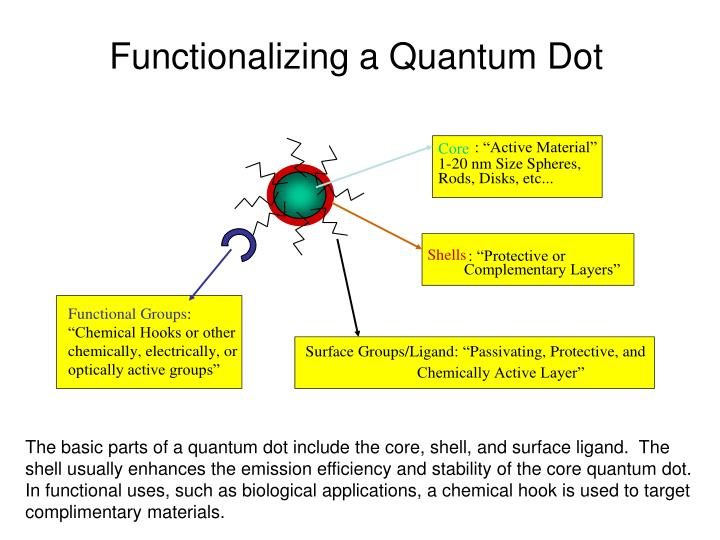 Functionalizing a Quantum Dot